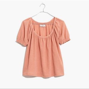 Madewell Texture & Thread Peasant Top in Stripe